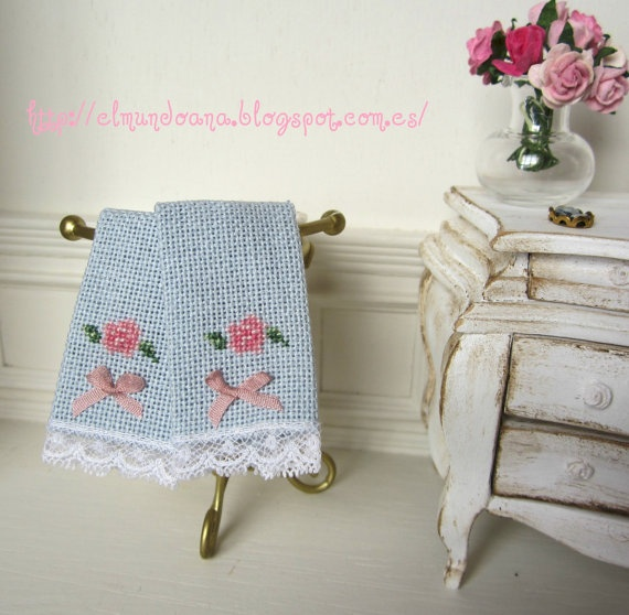 Miniature Bath Towels