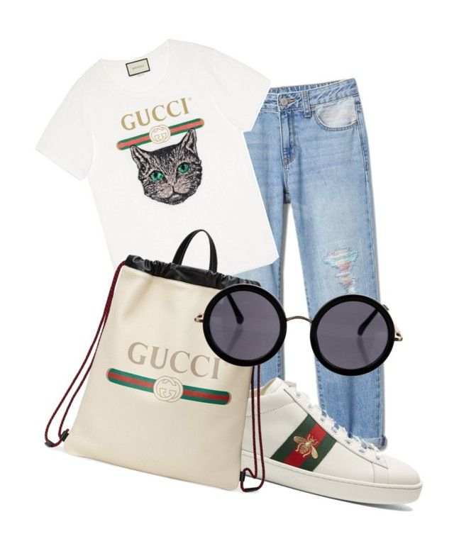 """cucci set"" by thepenetrator on Polyvore featuring Gucci and The Row"