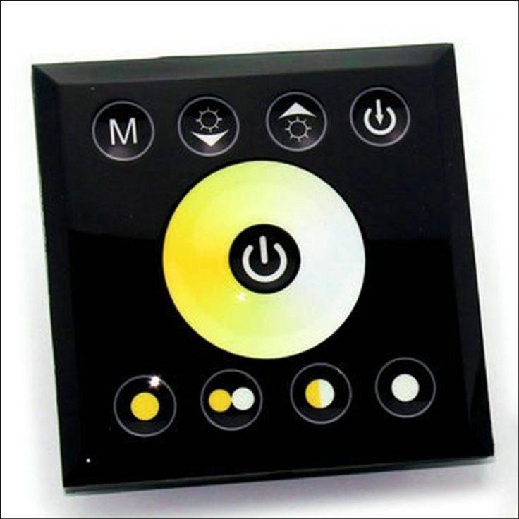 In-Wall Touch Panel LED Light Controller Dimmer 12V-24V - for Dual White Strips / Bulbs