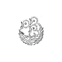 Pattern Detail | Baby Birds in a Nest | Needlecrafter