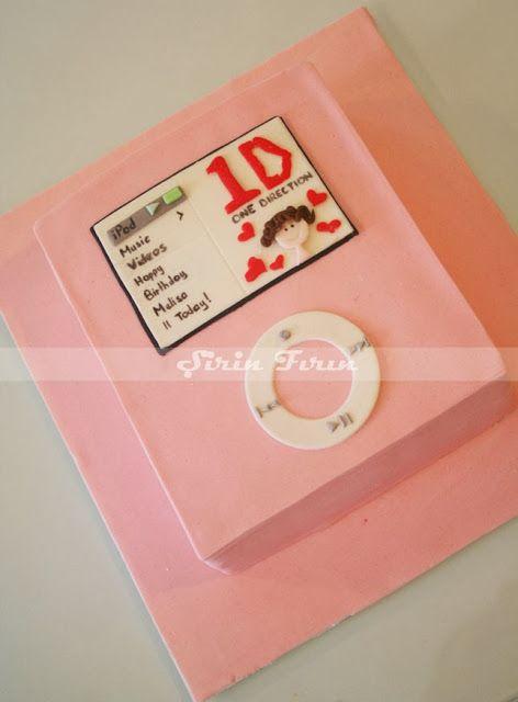 ipod cake, ipod pasta, one direction cake, one direction pastası