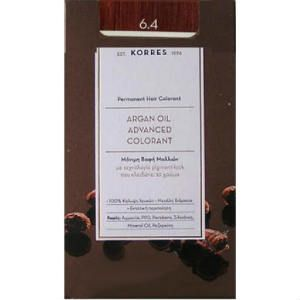 Korres Argan Oil 6.4 Μόνιμη Βαφή Ξανθό Σκούρο Χάλκινο 50ml
