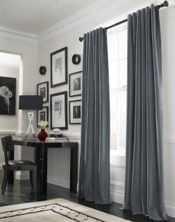 Love velvety curtains too... as long as they're gray ;)