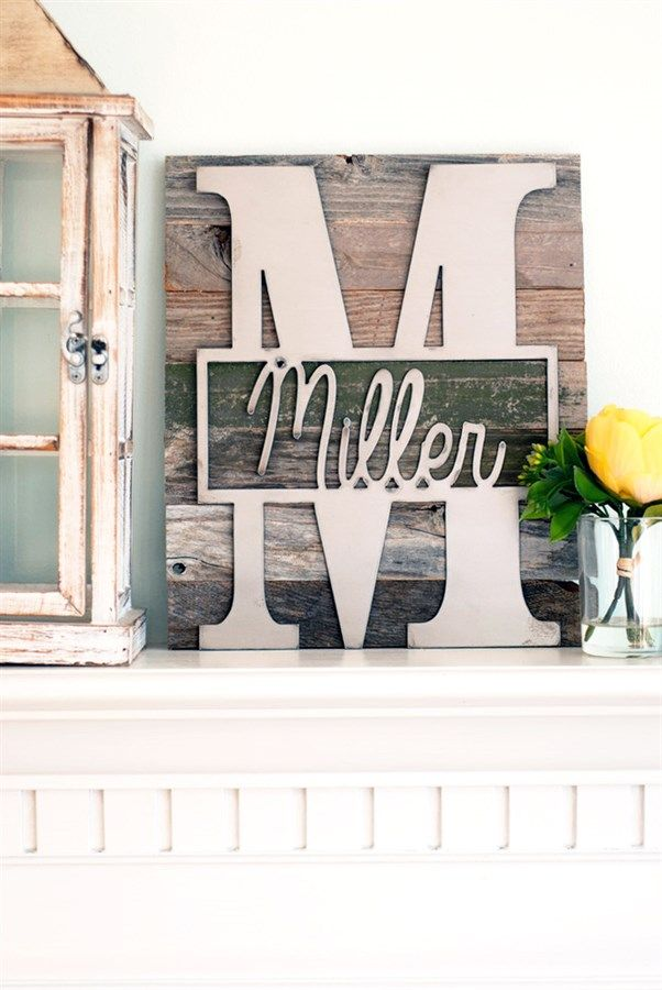 ​Whether it's on your front door, amid a wall of photos, or on your desk, these monograms will make an impression that's so classy and personal!