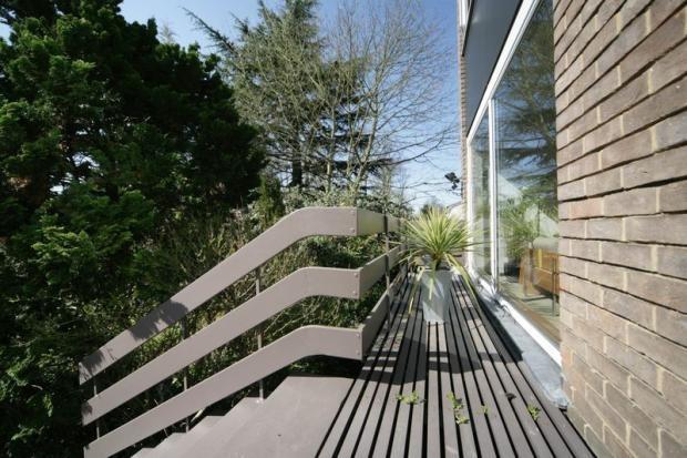 Fab veranda and steps off the house