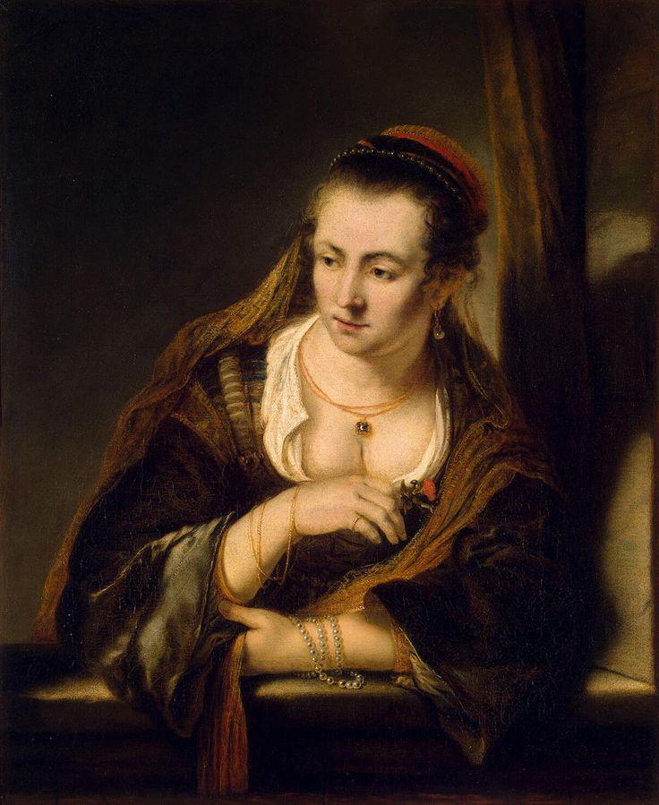 Молодая женщина в окне Музей:Эрмитаж Исполнитель:Бол Фердинанд