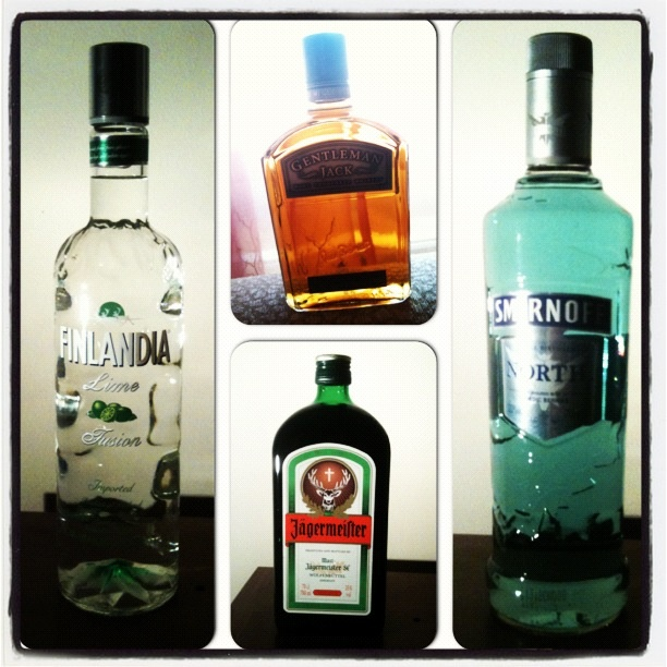 Finland lime vodka , smirnoff north , gentleman jack , jagermeister