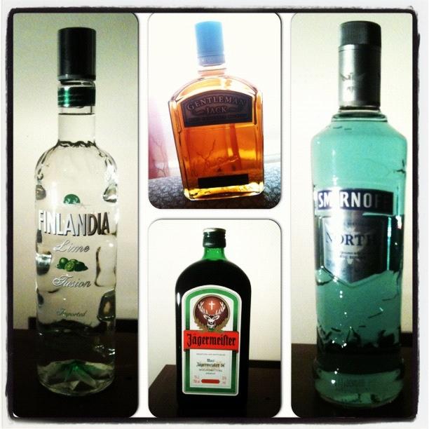 Finland lime vodka , smirnoff north , gentleman jack , jagermeister