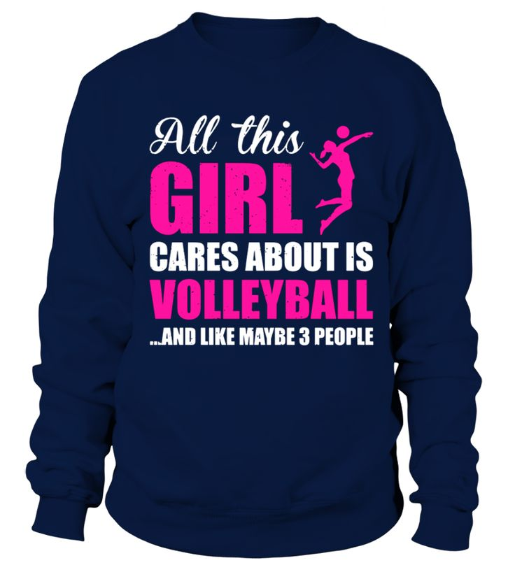 All this girl care about is Volleyball Funny t shirt  #volleyball #volleyballmom #mom #shirt #tshirt #tee #gift #perfectgift #birthday #Christmas #motherday