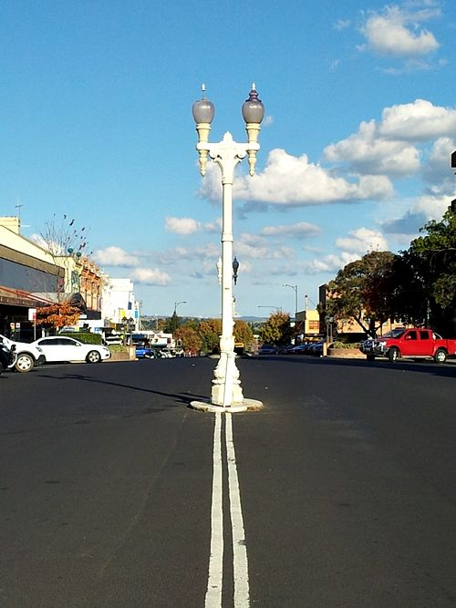Lamp post, Bathurst, NSW