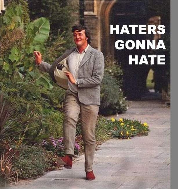 Stephen Fry doing the pranciest prancing in some very becoming tweed. : Gonna Hate, Hate Gonna, British Men, Heroes, Awesome, Stephen Fried, Red Shoes, So Happy, Funny Stuff