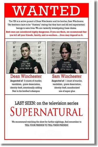 Сверхъестественное, Supernatural - постер, афиша №19