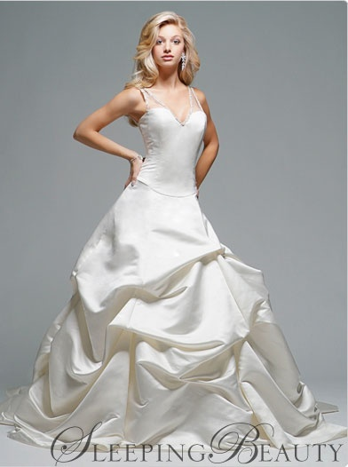 Sleeping beauty inspired wedding dress she said yes for Sleeping beauty wedding dress