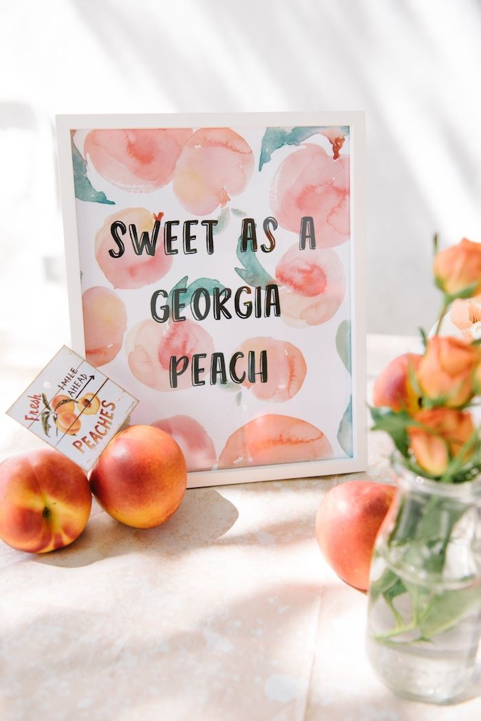 Sweet as a Peach Party Signage from a Sweet As A Peach 1st Birthday Party on Kara's Party Ideas   KarasPartyIdeas.com (19)