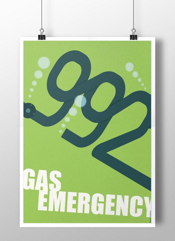 Information emergency posters by Radimira Yordanova, via Behance