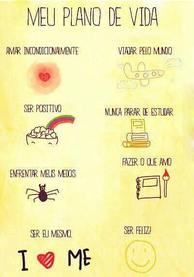 meu plano de vida ♥