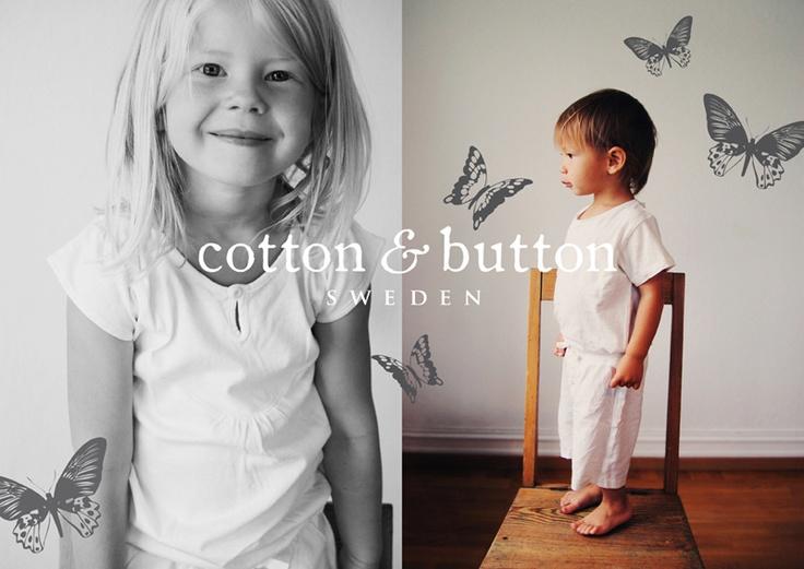 Cotton & Button Webstore. Ekologiska pyjamasar för barn. Children's organic cotton sleepwear.