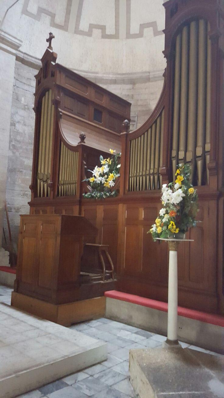 organo de tubos en catedral de La Serena