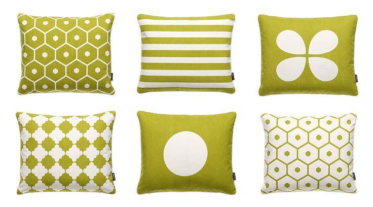 AUTUMN NEWS 2014, Cotton Cushions in Lime! HONEY + LISA + AKI + MARRE + VERA, Pappelina
