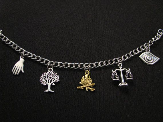 DIVERGENT INSPIRED CHARM Bracelet  With 5 Charms by ZivaKreations, $14.00