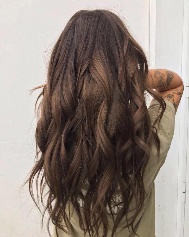 brunette, long hair, waves, curls, easy hairstyles for long hair, simple waves #…