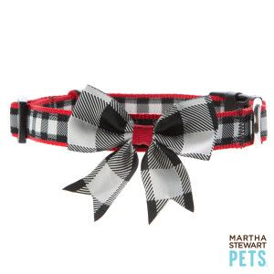 Martha Stewart Pets® Buffalo Checker Dog Collar | Collars | PetSmart