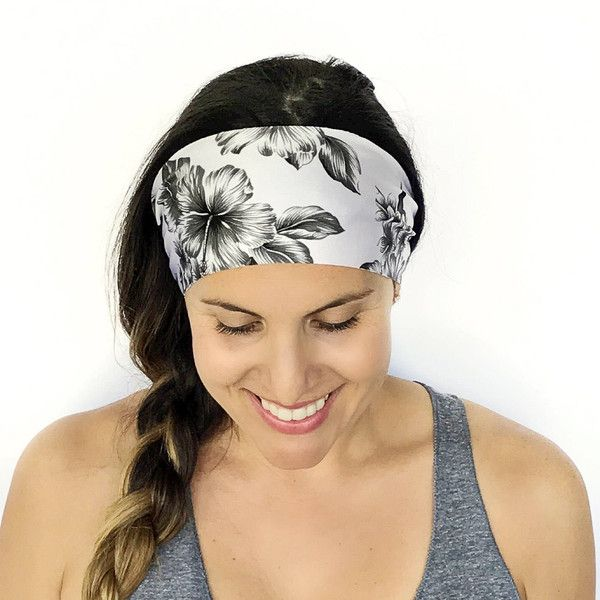 Yoga Headband Workout Headband Fitness Headband Running Headband Royal... ($7) ❤ liked on Polyvore featuring accessories, hair accessories, headbands & turbans, silver, headband turban, sports headbands, head wrap headbands, yoga headbands and head wrap hair accessories