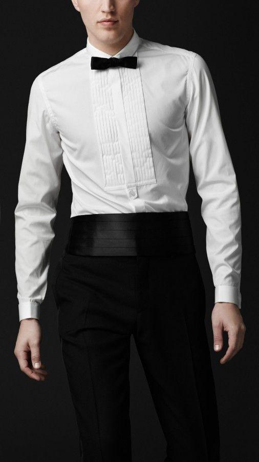 13 best banded collar tuxedo shirt images on pinterest for Best slim fit tuxedo shirt