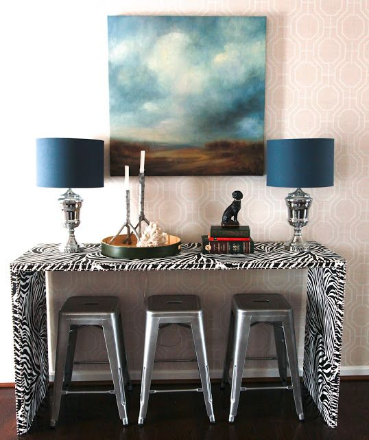 Marvelous DIY Zebra Console Table, Ummm Yes Please? Awesome Ideas