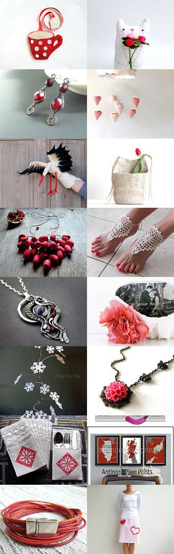 Hello red! by Kinga on Etsy--Pinned with TreasuryPin.com