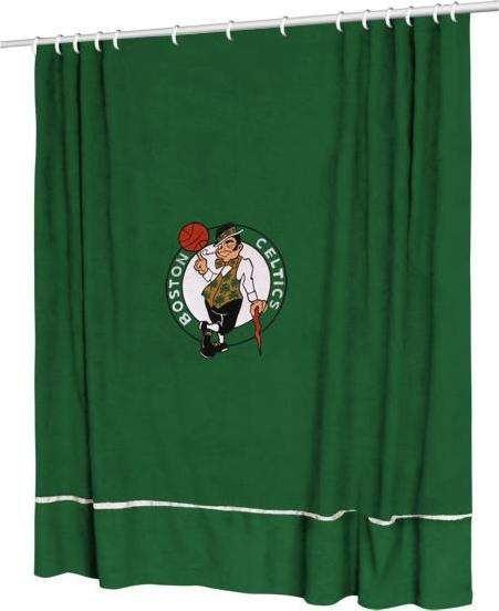 Boston Celtics Sideline Shower Curtain from bedding.com #celtics #boston