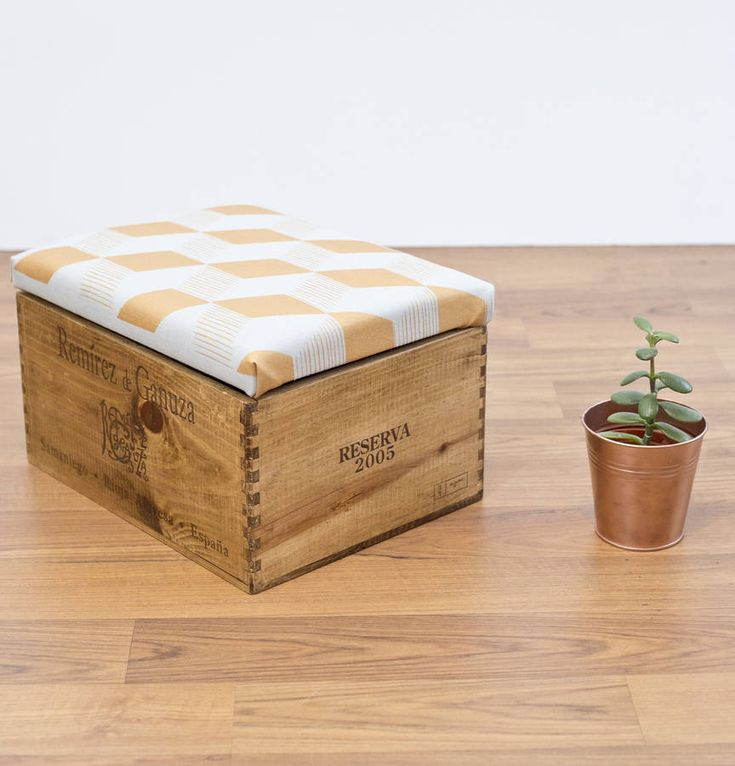 wine il ottoman linen wooden handmade wood crate and listing blanket storage