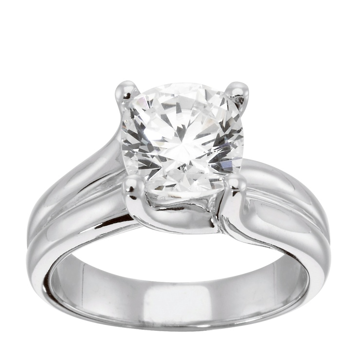 14K Yellow Gold 3.87 cts Cushion Cut Lab Created Engagement Ring $1750