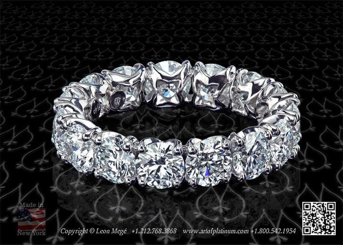 Heart and arrows diamond wedding band by Leon Megé R5705