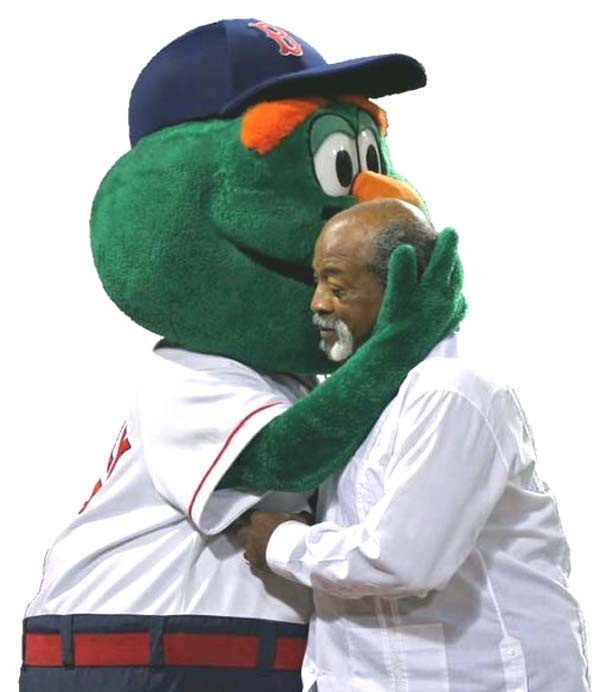 Wally and Luis Tiant in a man hug!: Red Sox, El Tiant, Sox National, Attitude Adjustments, Representative Hometown, Luis Tiant, Clap Clap, Men Hug, So Sweet