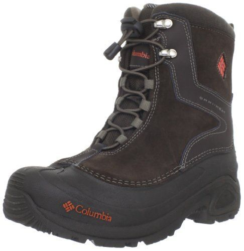 Columbia Sportswear BY1290 Bugaboot Plus Winter Boot (Little Kid/Big Kid) Columbia. $41.99. synthetic. Rubber sole. Omni-heat insulation provides additional warmth, rated to stand up to temperatures as low was -25°F. Bungee lacing system makes for an easy, struggle-minimizing on-and-off hiking boot