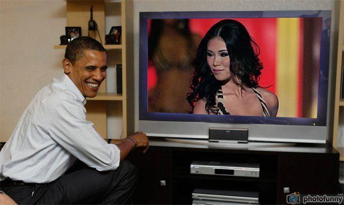 Riyo Mori Miss Universe 2007 from Japan watch live Obama
