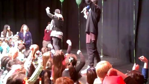 Green days mini concert, big thanks to broadfields school and this x factor band in helping this special event happen.