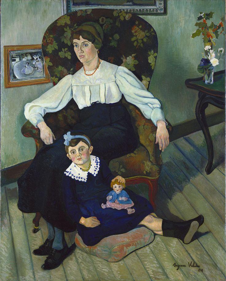 Suzanne Valadon (1865 -1938). Marie Coca et sa fille,1913, Huile sur toile, 161x130 cm. Lyon, Musée des Beaux-Arts. / http://www.mba-lyon.fr/mba/sections/fr/collections-musee/peintures/oeuvres-peintures/xxe_siecle/valadon_marie_coca