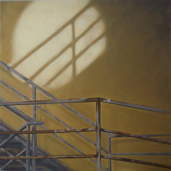 Artist: Zoltán Béla - Contemporary Shadows (2013), 100 x 100 cm , oil on canvas