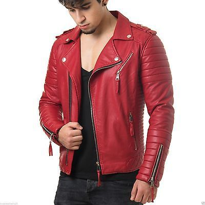 New Men's Lambskin Leather Jacket Motorcycle Genuine Real Leather Biker Jacket 2 | Clothing, Shoes & Accessories, Men's Clothing, Coats & Jackets | eBay!