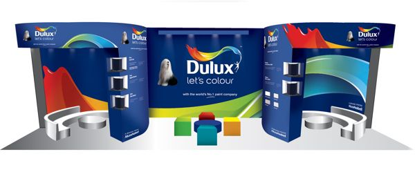 Dulux - Expo Stand Branding by Volcano Design and Cube Design Innovations, via Behance