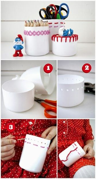How To Make Embroidered Cans
