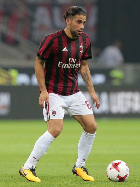 Ricardo Rodriguez of AC Milan in action during the UEFA Europa League Third Qualifying Round Second Leg match between AC Milan and CSU Craiova at Stadio Giuseppe Meazza on August 3, 2017 in Milan, Italy.