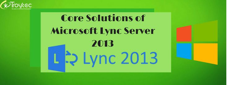 Exam Name : Core Solutions of Microsoft Lync Server 2013 Exam Code : 70-336 Category: Microsoft Lync Server http://www.troytec.com/70-336-exams.html
