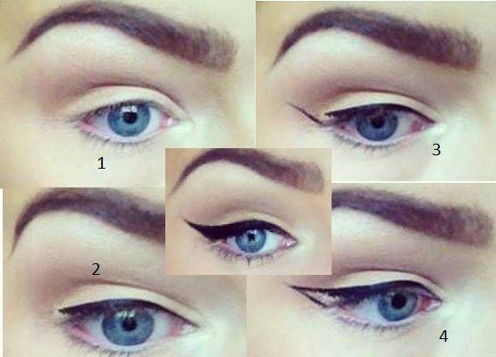 Uzun kuyruklu eyeliner çekme adımları   Kadınca Fikir