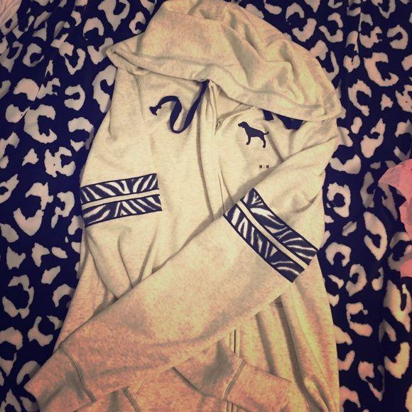 VS Zebra Cream Zip Up Hoodie NWT Zebra Cream Zip Up Hoodie. NO TRADES. Victoria's Secret Jackets & Coats
