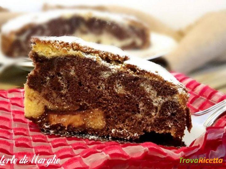 Torta variegata al cioccolato con farina di riso #ricette #food #recipes