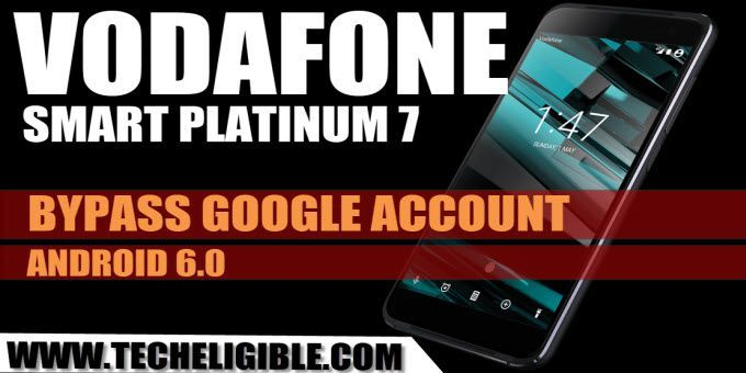 How To Bypass Frp Vodafone Smart Platinum 7 Android 6 0 1 Without