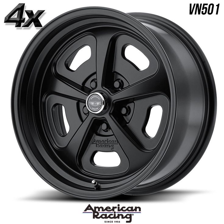 "4 American Racing VN501 17""x8"" 5x120.65 Black OFST:0mm 17 Inch Rims 17X8 Wheels"